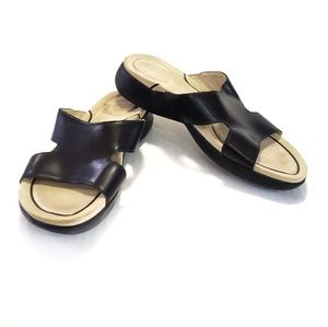 8 Dansko Leather Sandal Slide Flip Flop Open Toe